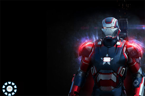 iron man 3 movie wallpaper-Patriot