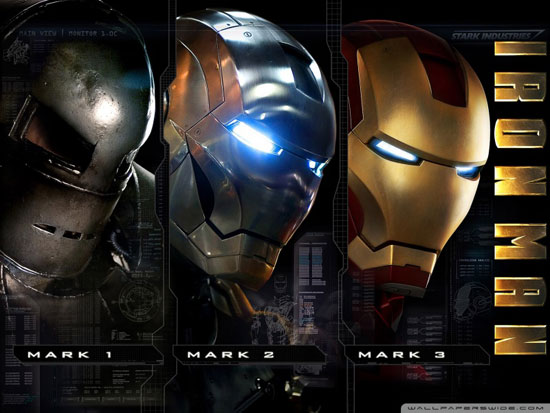 iron man 3 movie wallpaper- evolution of armor