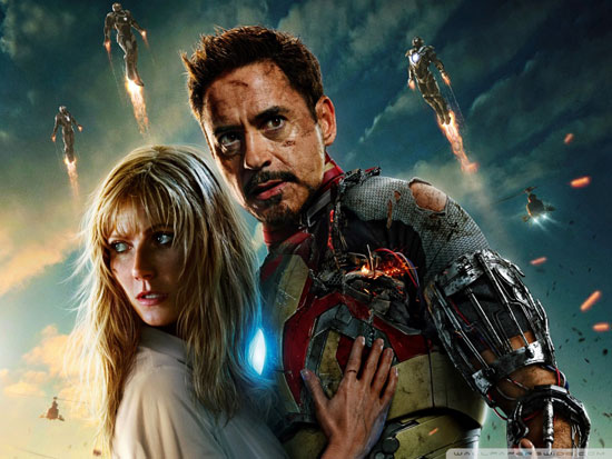 iron man 3 wallpaper tony stark and pepper